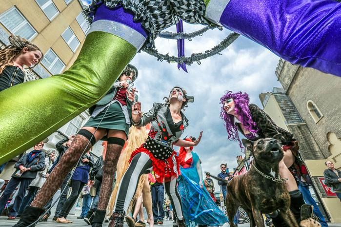 Street performance during Brighton Festival Fringe