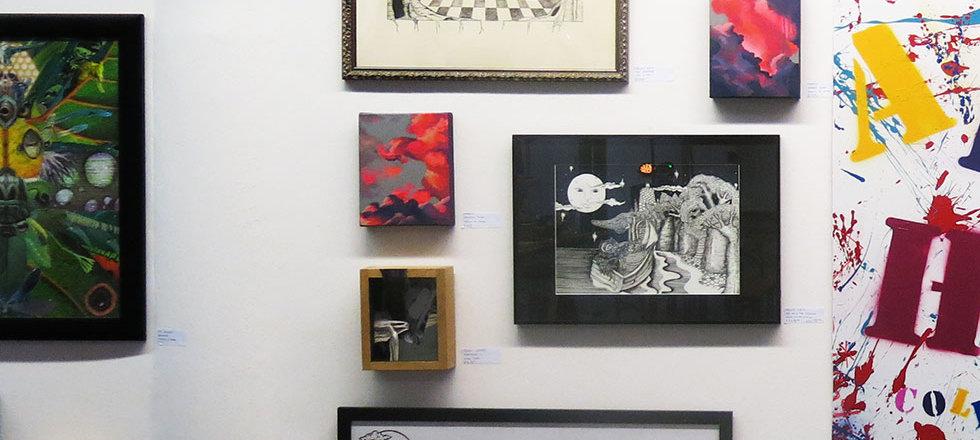 Brighton ArtHoc gallery wall in detail