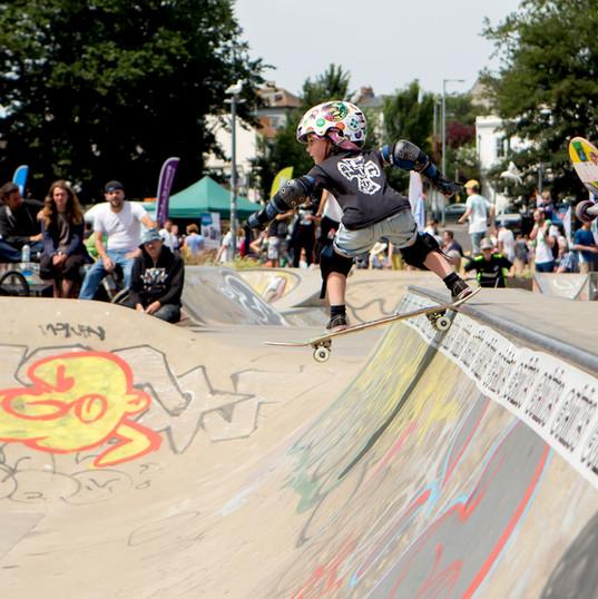Brighton skaters at the Level park in Brighton
