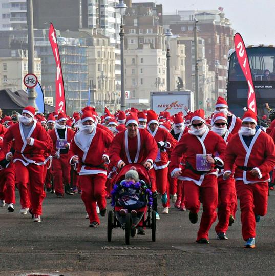Running Santas