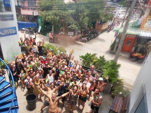 Songkran, fin de año en Pura Vida Diving