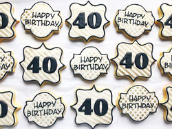Shimmery milestone cookies!