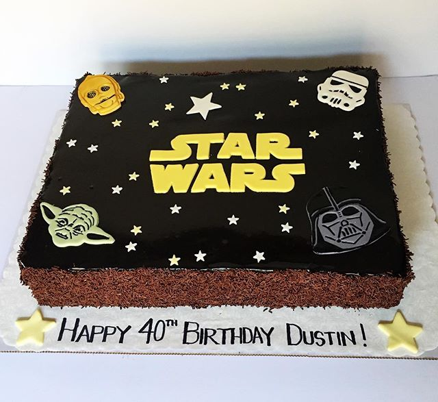 The force is sweet with this one! Marble cake, with a chocolate glaze to celebrate a milestone. ._._