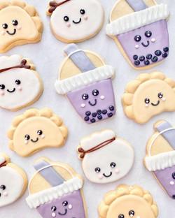 Boba and Dumpling Cookies!
