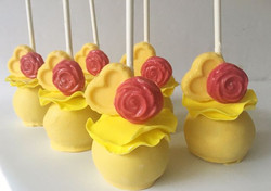 Beauty and the Beast Cake Pops