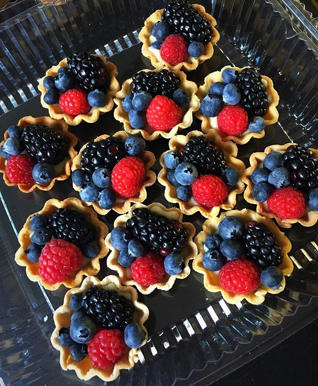 Need a refreshing dessert for these hot California days_ Mini berry tartlets are the answer! Perfect