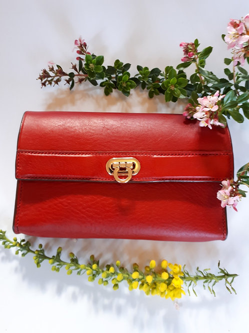 Lismore Red Leather 7 Day Pill Organiser