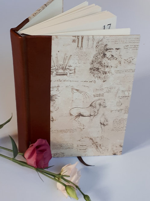 Luxury Leather Trim A5 Perpetual Diary
