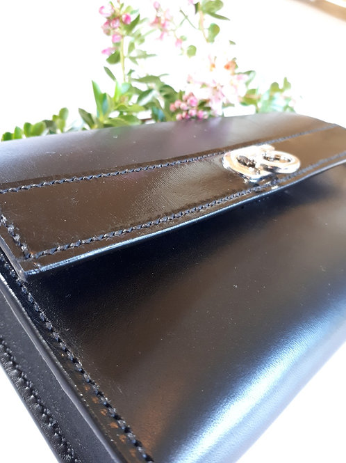 Lismore Black Leather 7 Day Pill Organiser