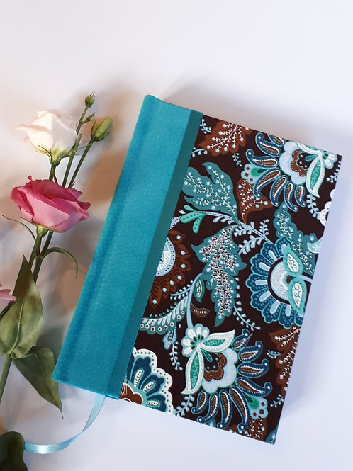 Luxury Leather trim and fabric A5 Notebook