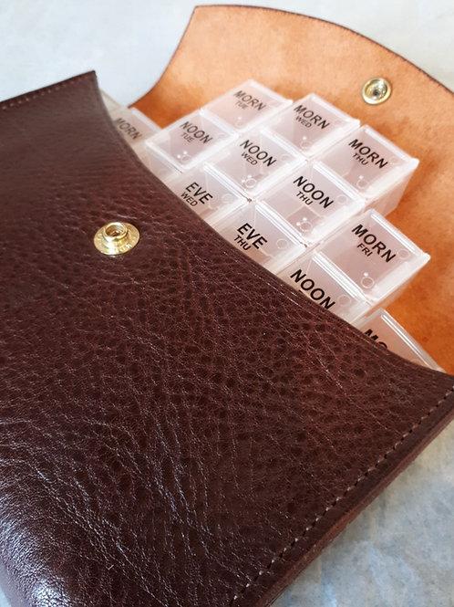 Chestnut Brown 7 Day Pill Organiser