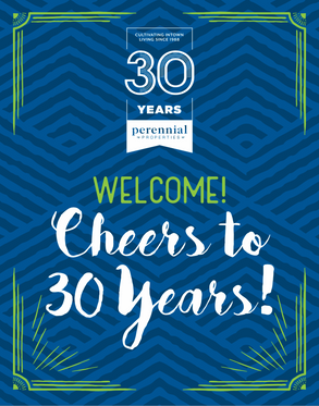 Perennial Properties 30 Year Logo + Flyer