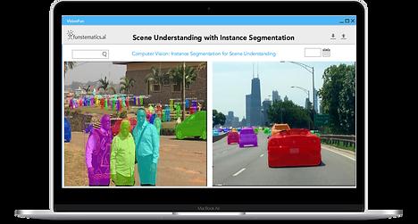 Scene understanding with instance segmentation