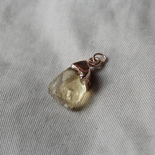 Rose gold Citrine charm