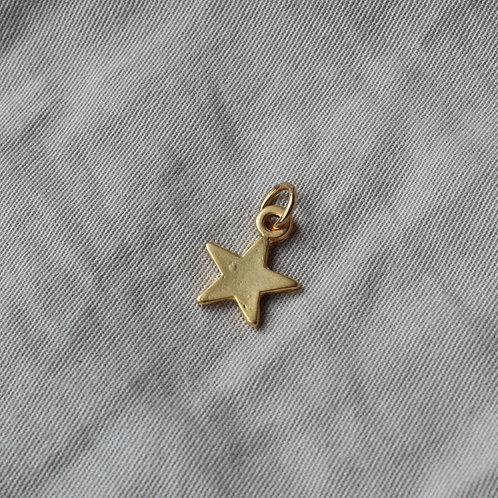 Mini gold star charm