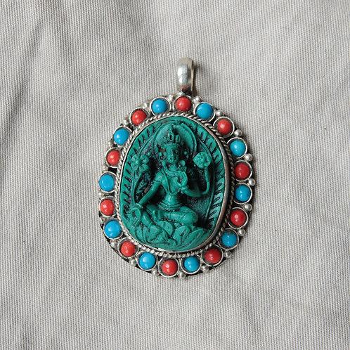 Green Tara pendant