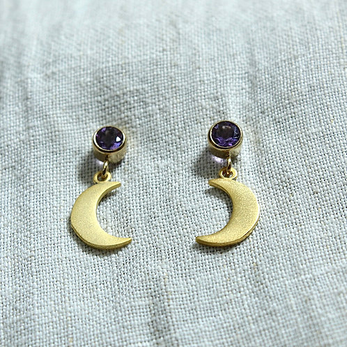 Amethyst Moon earrings