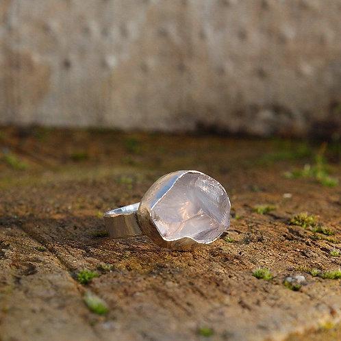 Handmade Bespoke Rose Quartz ring
