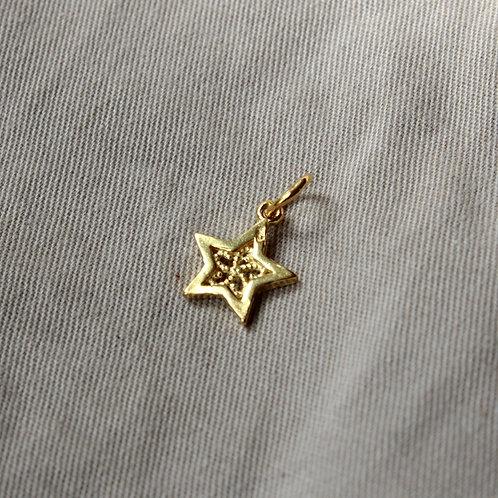Gold vermeil star charm