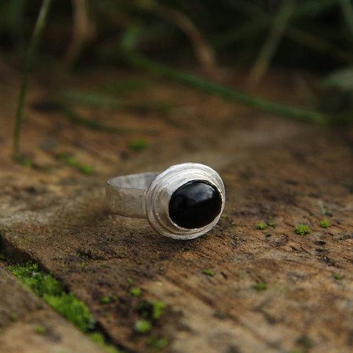 Handmade bespoke Onyx Ring