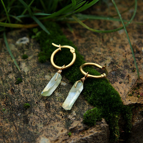 Green Aura Quartz earrings
