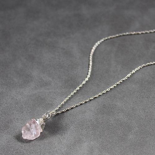 Rose Quartz - Silver