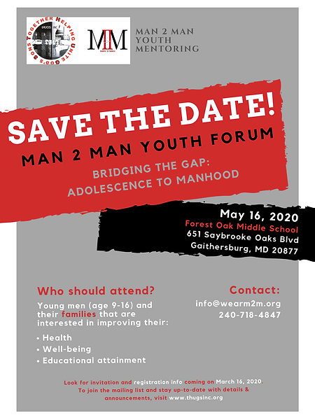 M2M 2020 Youth Forum Save the Date 05.16