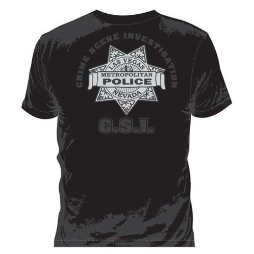 Camiseta Csi Police Preta