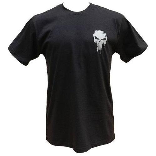 Camiseta Punisher Bandeira Eua-azul Marinho