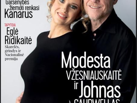 Le shooting grossesse de M&J pour le magazine lituanienne Zmones!