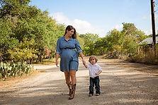 schwanger starke Frau mit Kind