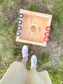 {DIY: Backyard Edition} Washers Boxes & Game