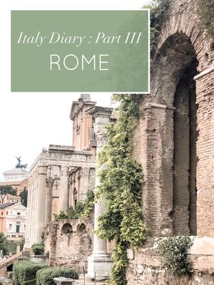 Italy Diary : Part III
