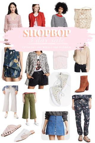 Shop Bop 3 Day Sale