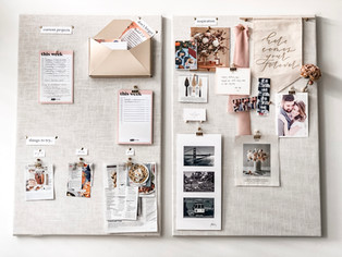 Linen Bulletin Boards {Without Braking the Bank}