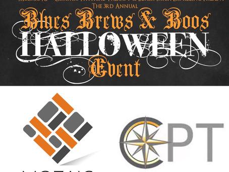 Mozaic & Compass PT 3rd Annual Blues Brews & Boos Fundraiser Event!