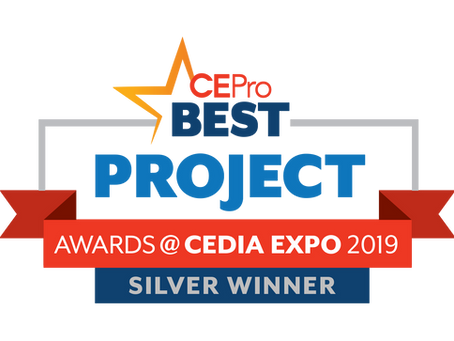 Mozaic Wins Second Straight CE Pro Project of the year award at the CEDIA Expo!