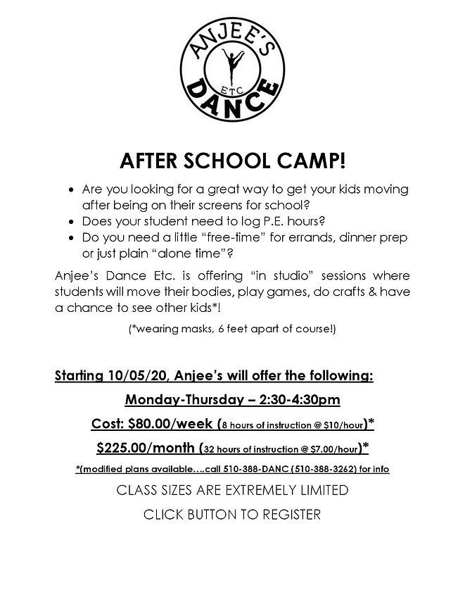 AFTER SCHOOL DANCE CAMP - Website Flier.