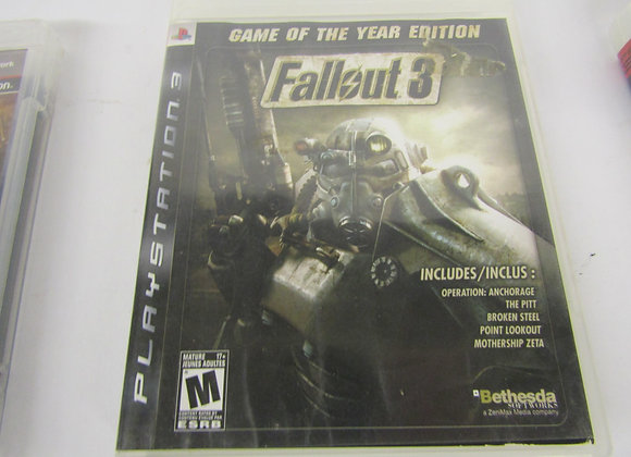 Fallout 3 Game of the Year Edition - PS3 Video Game - Used - Good Condition