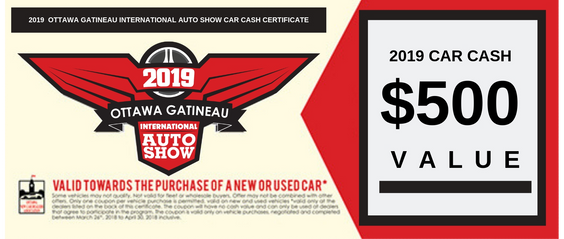Ottawa 2019 Cash Coupon