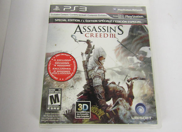 Assassins Creed III - PS3 Video Game - Used Good Condition