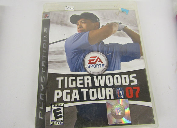 Tiger Woods PGA Tour 07 - PS3 Video Game  - Used Good Condition