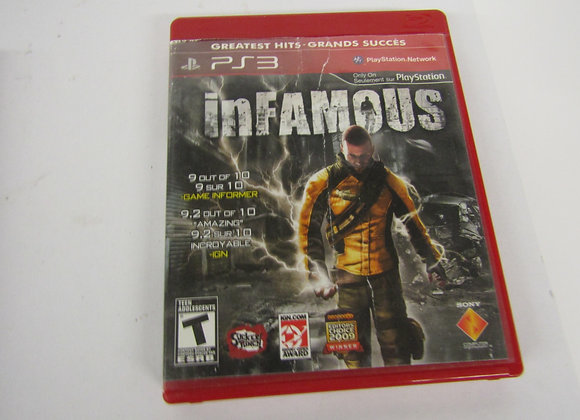 Infamous - PS3 Video Game - Used - Good Condition