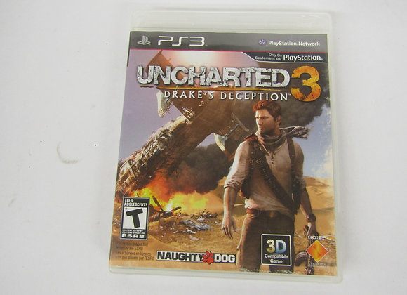 Uncharted 3 - Drake's Deception - PS3 Video Game - used good condition