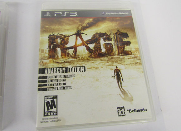 Rage Anarchy Edition - PS3 Video Game - Used - Good Condition