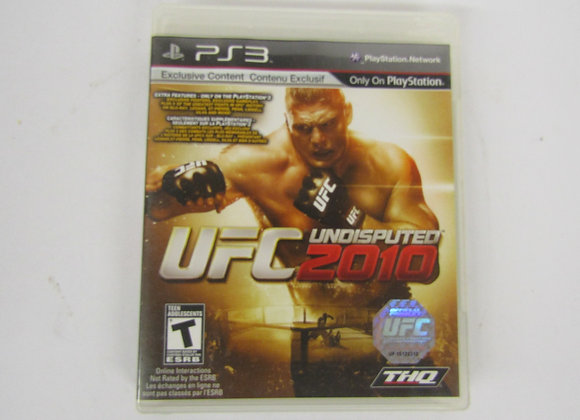 UFC Undisputed 2010 Video Game - PS3 - used good condition.