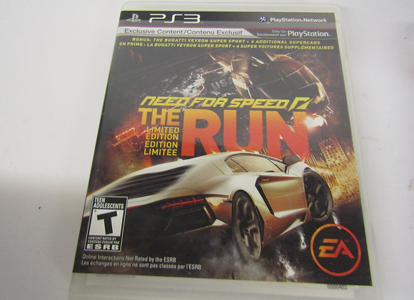 Need For Speed - The Run - Limited Edition - PS3 Video Game - Used - Good Condit
