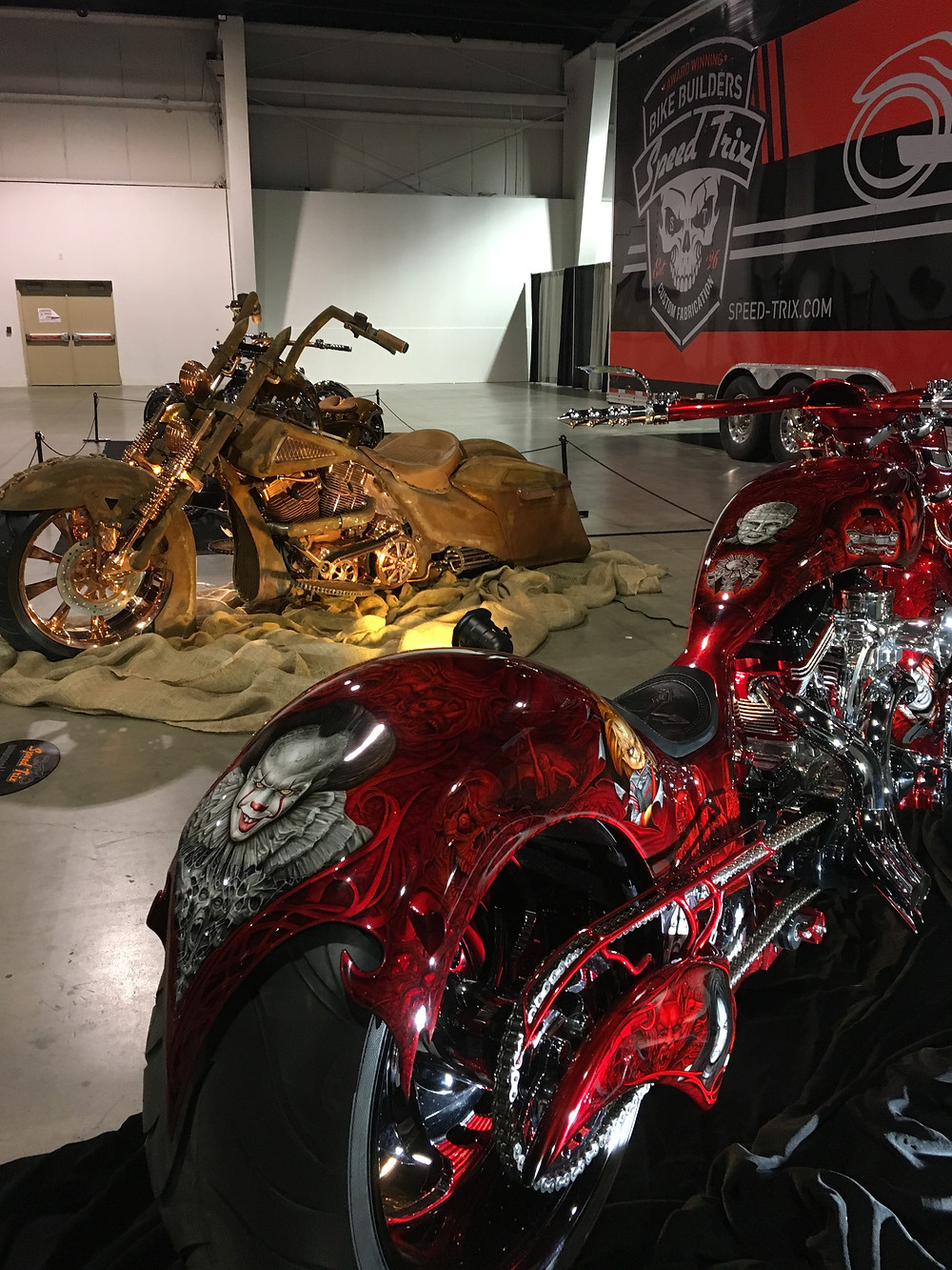 Preparing the bikes for transport to the Ottawa Auto Show