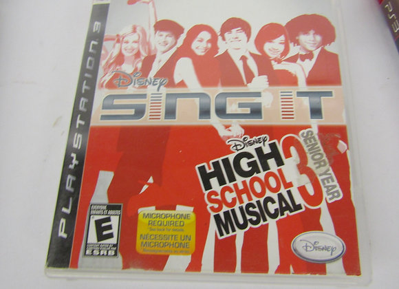 Sing It, High School Musical 3 - PS3 Video Game - Used - Good Condition