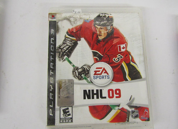 NHL 09 - PS3 Video Game -Used Good Condition